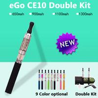 Ego CE10 900mAh Electronic Cigarette ego t Best e cigarette Vaporizer starter kit Liquid E hookah Cigarro electronico Silvery