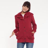 THICKEN Fashion Long Style Cotton Lady Winter Jacket Size M-2XL Double-deck Women Casual Warm Coat