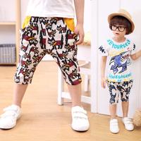Baby Boys Girls Unisex Cat Print Casual Children Shorts Age 2-6Year