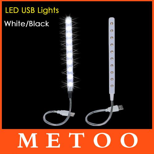 Super Cheap USB 10 LED Light Bright Soft Light Flexible usb lamp For Keyboard Read Notebook PC Laptop usb gadget 1pcs/lot(China (Mainland))