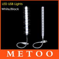 Super Cheap USB 10 LED Light Bright Soft Light Flexible usb lamp For Keyboard Read Notebook PC Laptop usb gadget 1pcs/lot