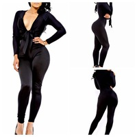2 colors 2014 Summer Rompers Women Deep V Neck Bandage Sexy Jumpsuit Playsuit Club Bodysuits Elegant  Bodycon Jumpsuit Brand New