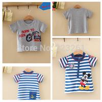 2014 Hot sale summer boy's T-shirt Cartoon Baby Short Sleeve Shirt  Kid's Clothes Casual T-shirt