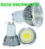 Dimmable bulb 6W 9W 12W GU10 110V 220V newest COB LED Lamp Light Spotlight Cold Warm White AC 85-265v