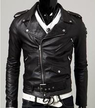Spring autumn 2014 new men's leather jacket men leather masculino bomber biker leather jackets for men skin jacket coat 1302-y82(China (Mainland))