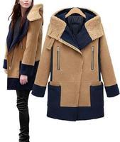 2014 Fashion camel winter coat woman casacos femininos warm outside cold sobretudo women's long wool winter coats abrigos mujer