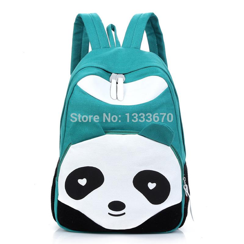 Lady Cute Canvas Women's Panda Backpack School Book Campus Backpack Panda Bag Fashionable Book Bags With Kongfu Panda(China (Mainland))