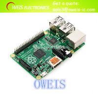 3 IN 1 Rev 2.0 512 ARM Raspberry Pi Project Board Model B + 3 heat sinks + 1 board case 1 Set=5pcs Free Shipping