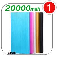 Polymer Power bank 20000mah charger 2 USB OutPut miracurl powerbank carregador de bateria portatil for iphone 5 Samsung S5