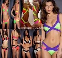 Women Swimwear Bikini Sets Low Waist Push Up Bandage Women Beach Bikini Swimsuit 3147