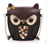 PU Artificial leather women handbag women leather handbags cartoon bag owl fox women shoulder bag women messenger bagsx407