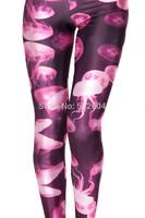 ZCXR New Arrival Women Causel Leggings Sexy Girl Leggings Jellyfish 3D printed Hot Girl Street Wear Fashion Pants