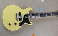 Free shipping Top Quality Les Custom Art HSTORC Junior P90 Pickup Yellow Electric Guitar