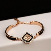 2014 New 14K rose gold plated gold cross bracelet men women gold TB bracelets  fashion gold cross jewelry
