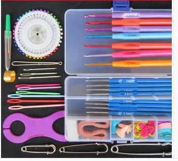Вязание крючком вязание комплект инструментов / спицы / пластиковая ручка окисления металлический крюк иглы установить крючком инструменты
