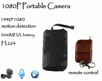2014  new style big battery 1080P full hd  hidden camera mini dvr  motion detection H.264  5000mha  output remote control