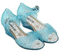 2014 New Frozen Elsa Princess Shoes Girls Shoes Blue Frozen Cosplay Girl Cheap Shoes