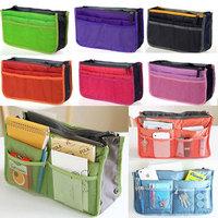 Fashion Multilayers Travel Insert Handbag Women Makeup Bag Multifunction Purse Liner Organizer Cosmetic Bag Drop Free