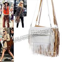Hot Selling !! 2014 Women Tassel Bags Cross Body Bags Handbags Velour Solid Zipper Shoulder Bags Ladies Messenger Bags CX851624