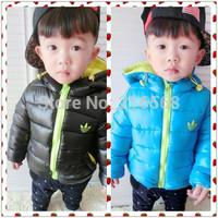 Retail !!! Brand children coat winter jacket classic brand free shipping warm down-filled jacket cotton-padded jacket boy coat