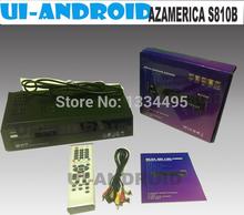 melhor dvbs fta decodificador receptor de satélite digital azbox azamerica s810b h. 264 s810b azamerica azbox hd dvb-s bravissimo(China (Mainland))