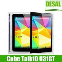 New Arrival Cube Talk10 U31gt 3G Tablet PC MTK8382 Quad Core 10.1 Inch IPS 1280x800 Screen Dual Cameras Android 4.4 OTG WCDMA