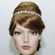 Free Shipping Rhinestone Crystals Flower Headband Headdress Ribbon for Women Party Wedding Bridesmaid Bridal Jewelry 1012