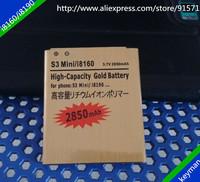 2pcs 2850mAh High Capacity Gold Battery For Samsung Galaxy Ace2/i8160 7562 S7568 i8190 699 739 759 Batterie Bateria Batterij