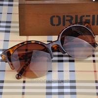 Fashion Retro Designer Super Round Circle Glasses Cat Eye Semi-Rimless Sunglasses Glasses Goggles XMPJ093