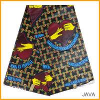 fashionable design java wax fabric for dress ,100% cotton super wax fabric ,batik fabrics for wedding