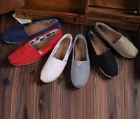 New fashion 2014 men women flat shoes fashion leisure shoes Single Canvas shoes loafers casual shoes Plus size 35-45  NX06