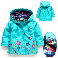 Retail 1pcs/lot, baby girls hoodies,Girls jackets, outerwear & coats, children's coat, Spring autumn baby coat girls, girls coat