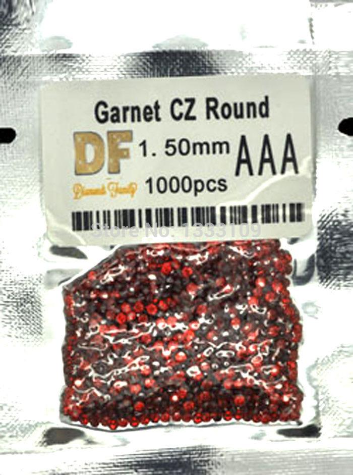 Garnet/Wholesale/Perfect Cut/DIY Fashion Jewelry/Synthetic Loose Gemstone/Cubic Zirconia/1.6~2.75MM Garnet AAA Gem Beads(China (Mainland))