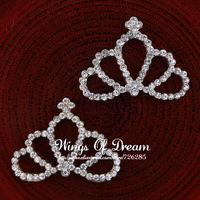 (30pcs/lot)  2 Colors Chic Princess Tiara For Headband Royal Baby Christmas Gift Mixed Style Gold Rhinestone Crown