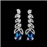 Two Gifts  CZ Diamond zircon statement brinco dangle drop long earing Earring for women Wedding Jewelry  wedding bijoux