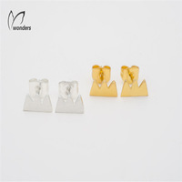 Stainless Steel brand Stud Earrings for women jewelry free shipping