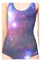 new arrival hot sexy Galaxies 3D Print fashion black milk Beachwear one piece swimwear bathing suits Swimsuit for women