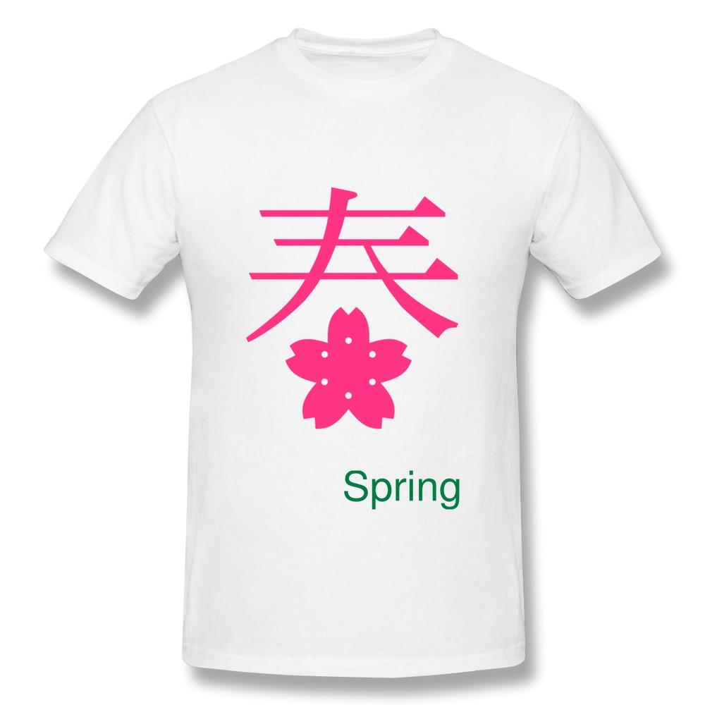 Discount Regular Men T Shirt Spring Season - Japanese Symbol - VECTOR Customize Quotes Men T-Shirts Round-Neck(China (Mainland))