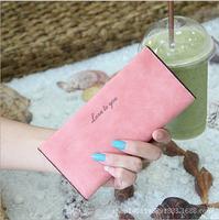 2014 New Women Long Wallet Korean version of the original retro matte leather slim wallet card pack