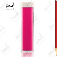 Lipstick 2600mAh Universal Backup USB Battery Power Bank External Battery Pack Charger + White Box 50Pcs/Lot UPS Free Shipping