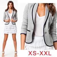 2014 New Blazer casacos femininos women coat Slim Short Design Turn-down Collar Blazer Short Coat jackets women Cardigans XS-XXL