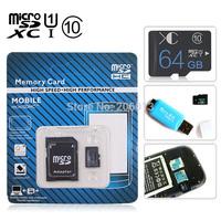 Newest 2014 design class 10 Micro SD card memory card flash card  64GB SDHC memory card pen drive memory drive usb stick