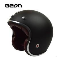 BEON FIBERGLASS material casco jet  casco moto vintage motorcycle helmet  half helmet scooter helmet  retro helmet  Size  M L XL