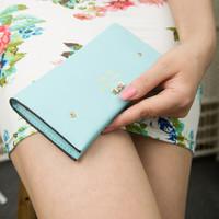 2014 new Korean fashion wave of cross pattern butterfly knot lady long wallet wallet