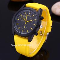 Fashion Casual Watches Brand Geneva Unisex Quartz Watch Men Women Analog Wristwatches Sports Watches Silicone Watches
