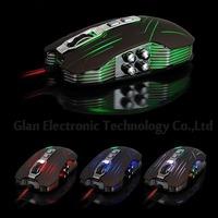 Hot sales 9D Suzaku usb gaming mouse+800/1200/1600/2400 DPI Free shipping & wholesale