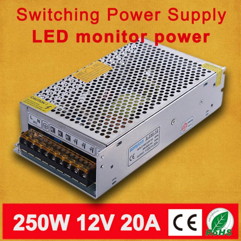 85-265AC input, 12V Output 250W 20A LED Switching Power Supply(China (Mainland))