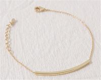 Wholesale 30pcs/lot-2015 Gold/Silver Fashion Jewelry Metalwork PVD Stainless Steel Sim Bar Charm Bracelet