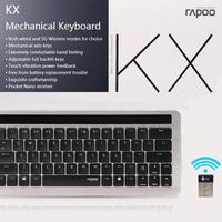 100% Original Rapoo KX Mechanical Keyboard 5G Wireless Rechargeable Blacklight Keyboard with Multimedia Keys Nano Receiver