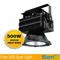 Cree XBD 500W led high bay lighting floodlight waterproof IP65 AC90-305V Meanwell driver 5 years warranty 25/60/90degree black